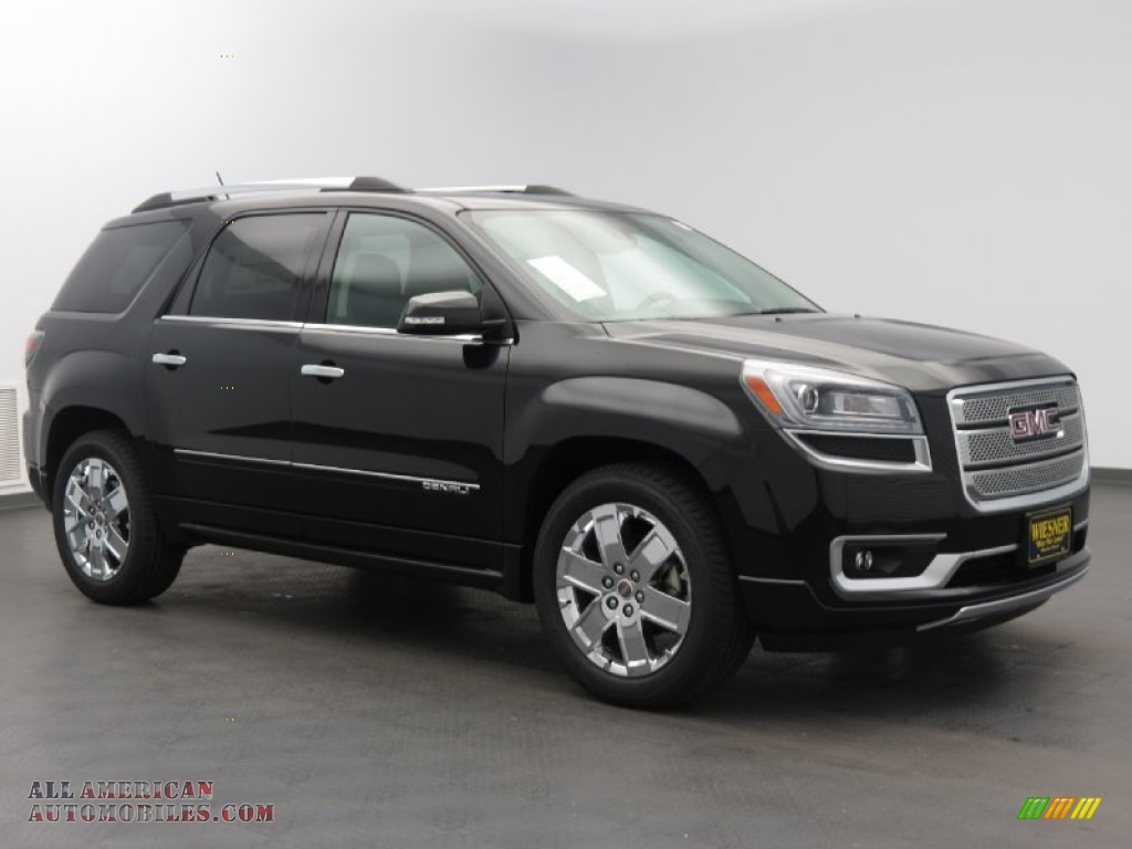 2014 gmc acadia denali in carbon black metallic 114086 all american automobiles buy. Black Bedroom Furniture Sets. Home Design Ideas