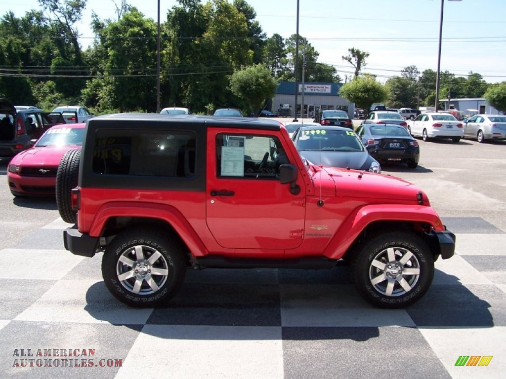 Ron Lewis Chrysler Dodge Jeep Ram Waynesburg >> 2013 Jeep Wrangler Sahara 4x4 in Rock Lobster Red photo #3 - 645407 | All American Automobiles ...