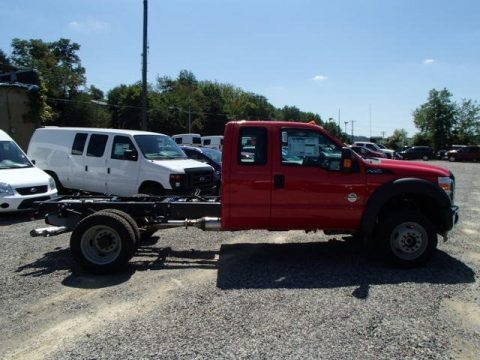 Vermillion Red 2014 Ford F550 Super Duty XL SuperCab 4x4 Chassis