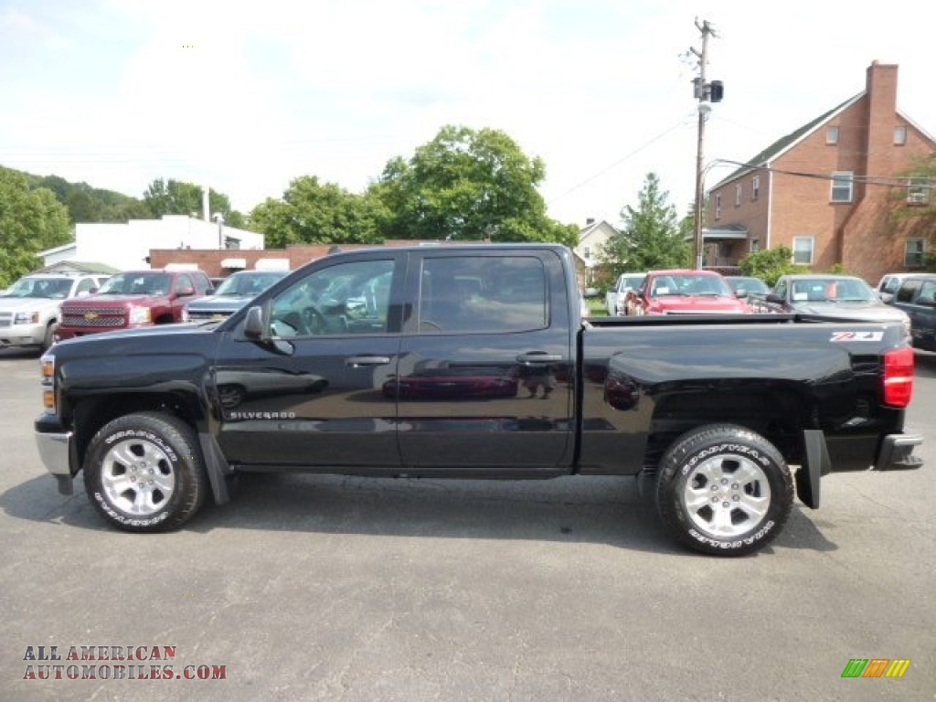 2014 chevrolet silverado 1500 lt z71 crew cab 4x4 in black. Black Bedroom Furniture Sets. Home Design Ideas