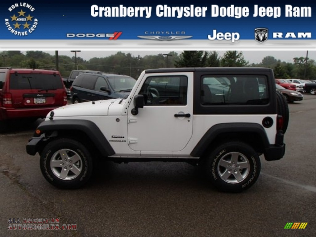 2013 jeep wrangler sport 4x4 in bright white 644473 all american automobiles buy american. Black Bedroom Furniture Sets. Home Design Ideas