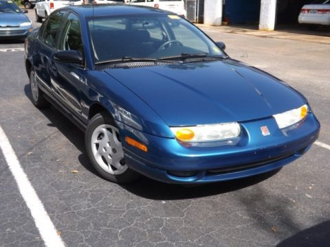 Blue 2002 Saturn S Series SL2 Sedan