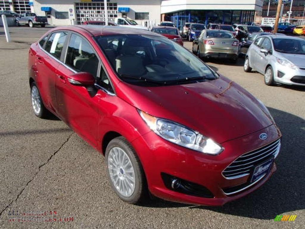 2014 ford fiesta titanium sedan in ruby red photo 2. Black Bedroom Furniture Sets. Home Design Ideas