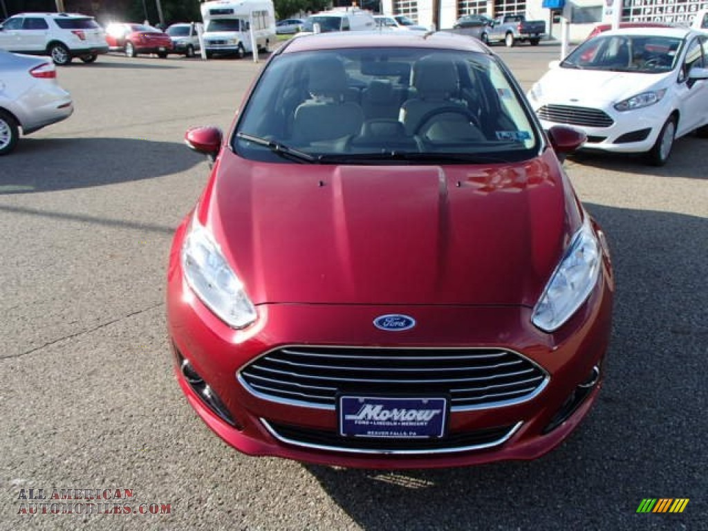 Ron Lewis Dodge >> 2014 Ford Fiesta Titanium Sedan in Ruby Red photo #3 - 132050 | All American Automobiles - Buy ...