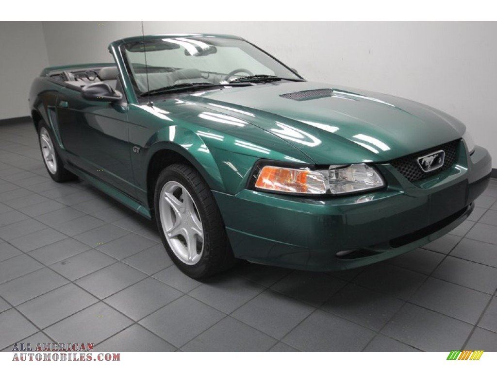 2000 ford mustang gt convertible in amazon green metallic. Black Bedroom Furniture Sets. Home Design Ideas