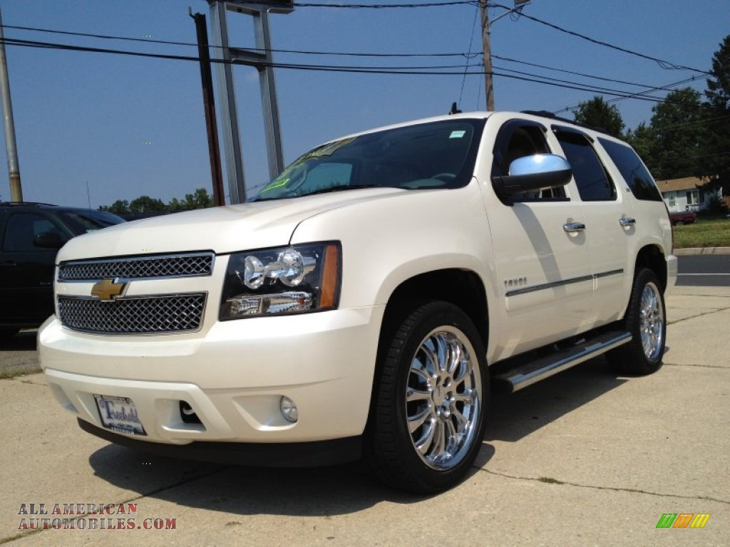 2013 chevrolet tahoe ltz 4x4 in white diamond tricoat 273669 all american automobiles buy. Black Bedroom Furniture Sets. Home Design Ideas