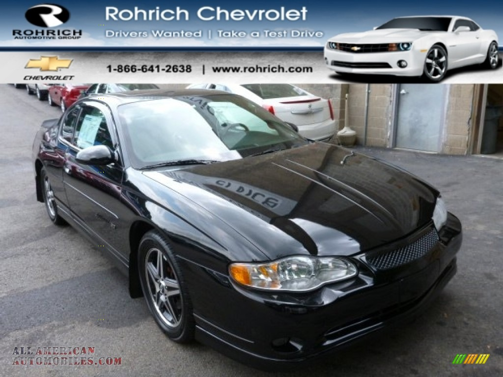 2005 chevrolet monte carlo supercharged ss in black 251709 all american automobiles buy. Black Bedroom Furniture Sets. Home Design Ideas