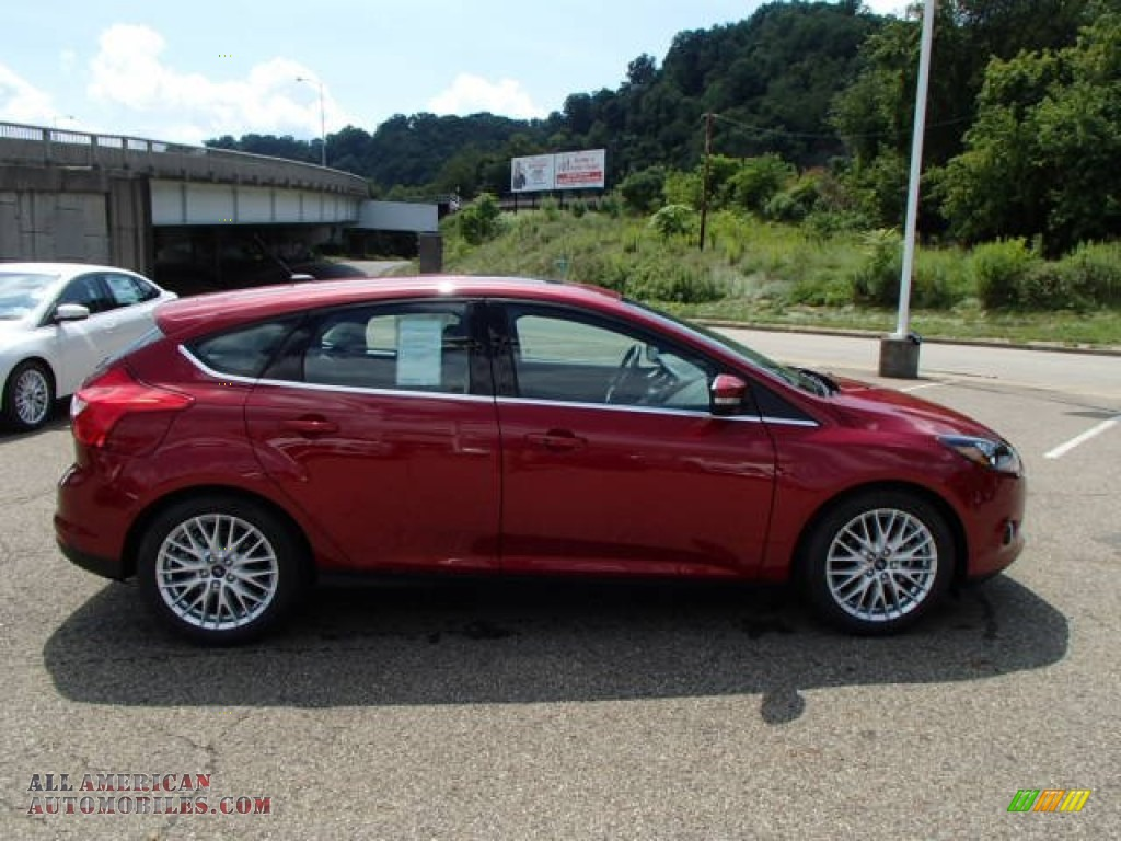2014 ford focus titanium hatchback in ruby red photo 16 128570 all american automobiles. Black Bedroom Furniture Sets. Home Design Ideas