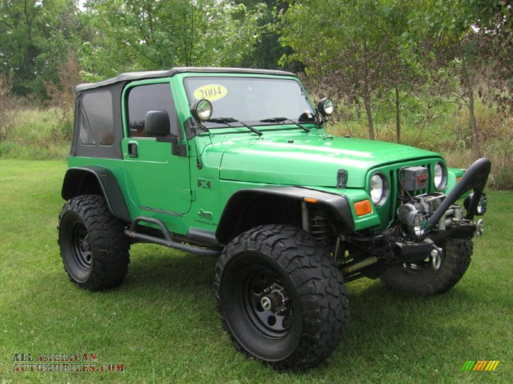 2004 Jeep Wrangler X 4x4 In Electric Lime Green Pearl