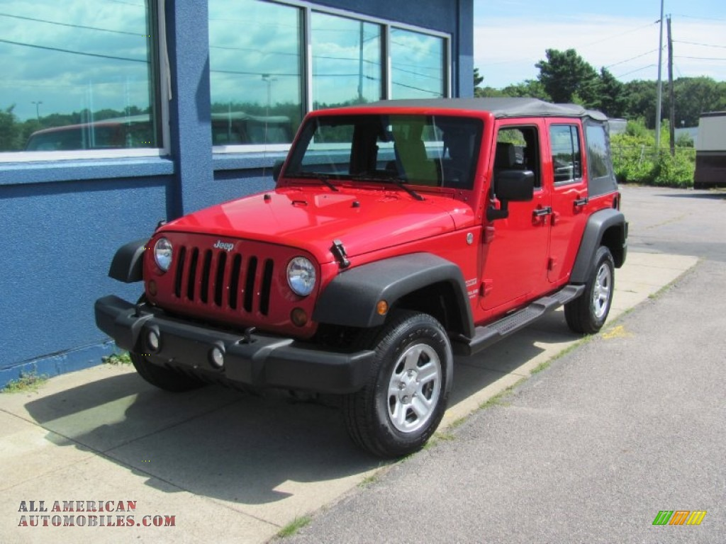 2010 Jeep Wrangler Unlimited Sport 4x4 In Flame Red Photo