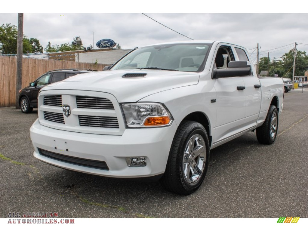 2012 dodge ram 1500 st quad cab 4x4 in bright white 184115 all american automobiles buy. Black Bedroom Furniture Sets. Home Design Ideas