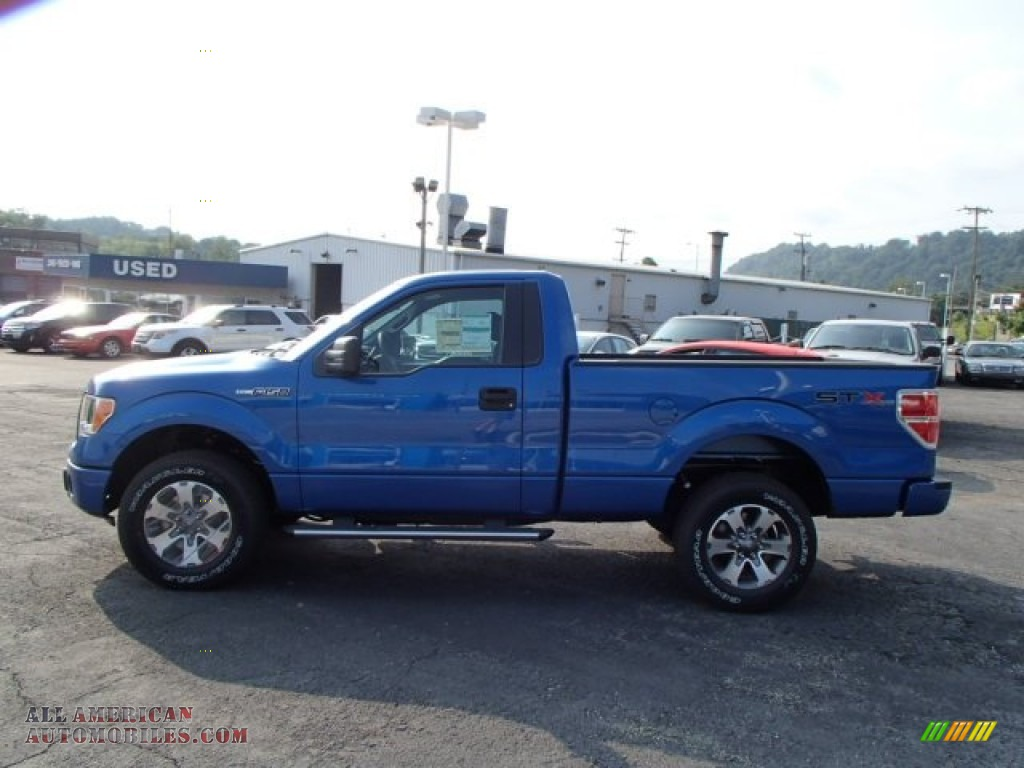 2013 Ford F150 Stx Regular Cab 4x4 In Blue Flame Metallic