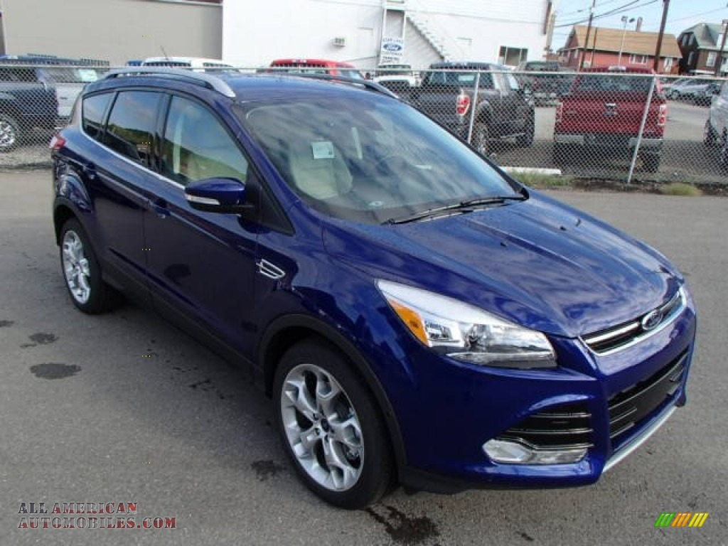 2014 escape titanium 2 0l ecoboost 4wd deep impact blue medium light stone photo