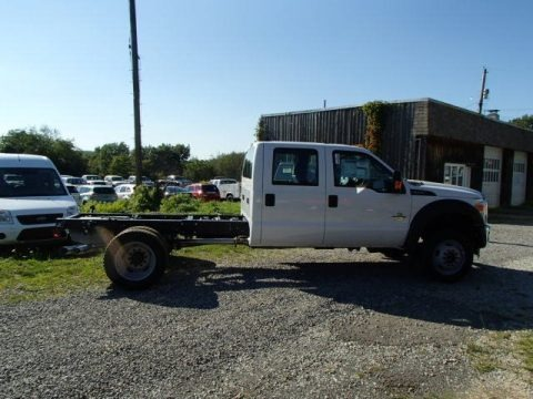 Oxford White 2014 Ford F550 Super Duty XL Crew Cab 4x4 Chassis