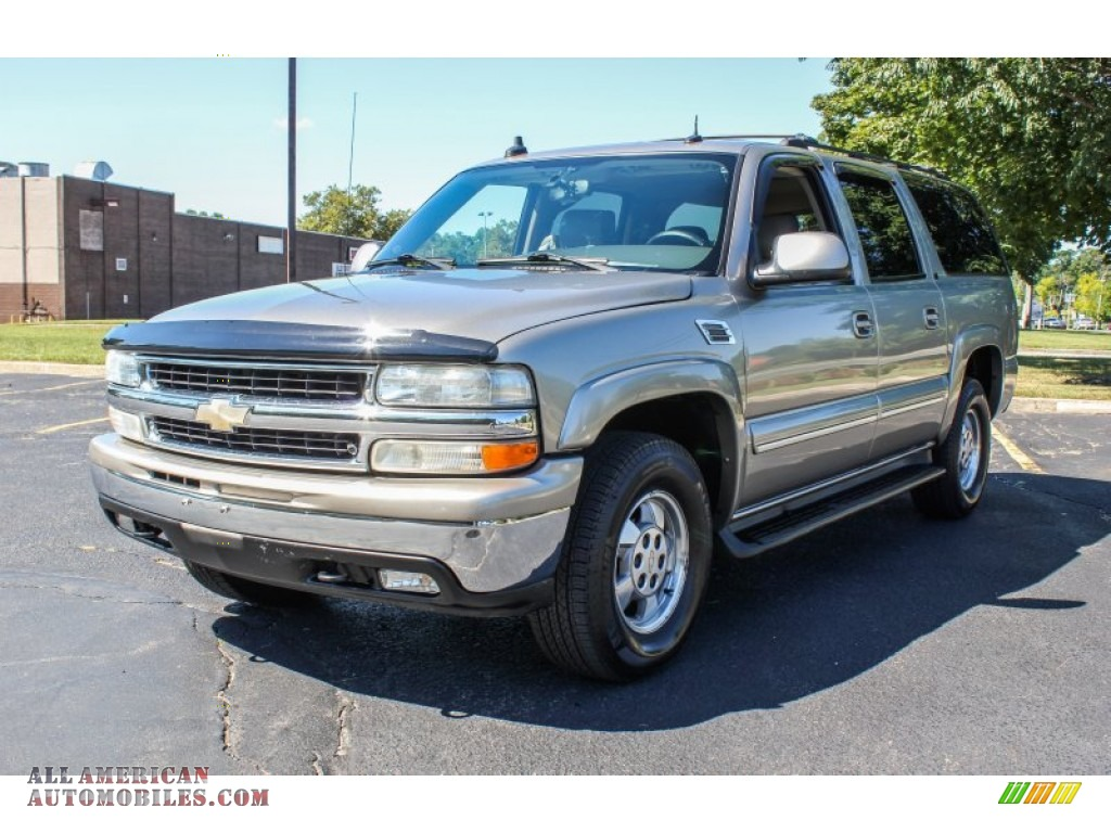 2003 chevrolet suburban 1500 lt 4x4 in light pewter metallic 117649 all american automobiles. Black Bedroom Furniture Sets. Home Design Ideas