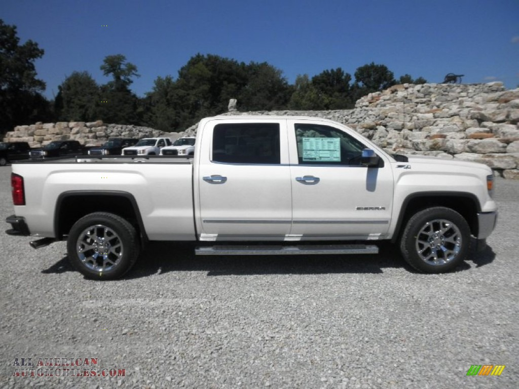 2014 gmc sierra 1500 slt crew cab 4x4 in white diamond tricoat photo 2 192856 all american. Black Bedroom Furniture Sets. Home Design Ideas