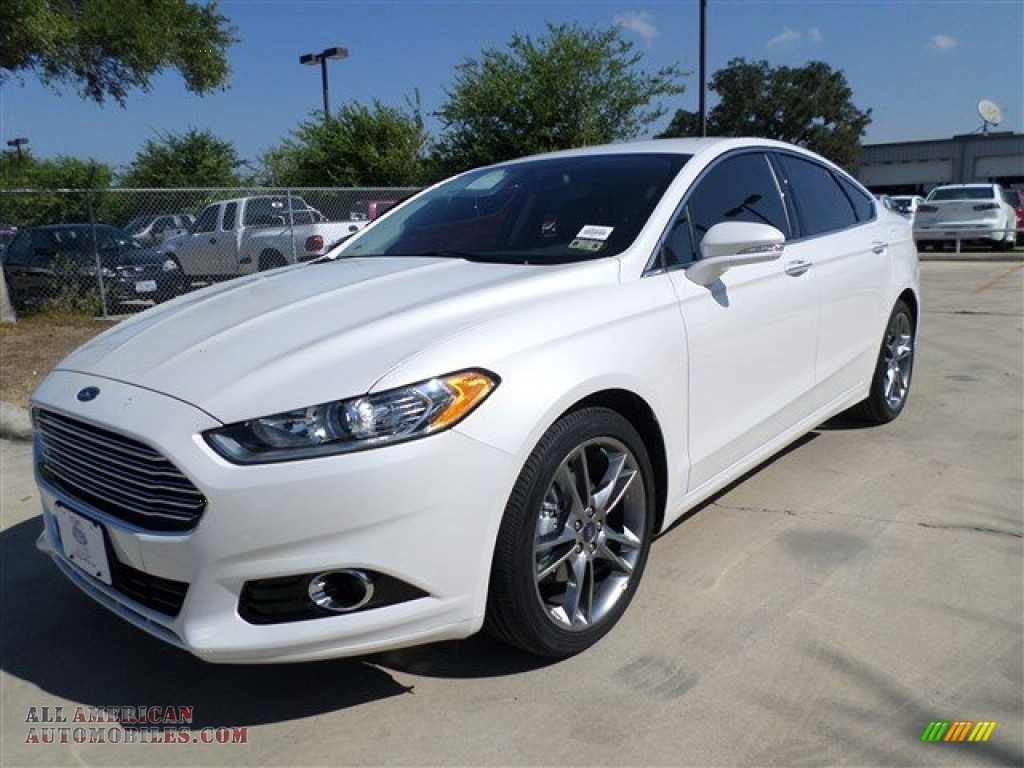 2014 ford fusion titanium in white platinum 121178 all american. Cars Review. Best American Auto & Cars Review