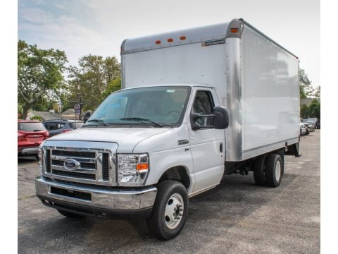 Oxford White 2013 Ford E Series Cutaway E350 Moving Truck