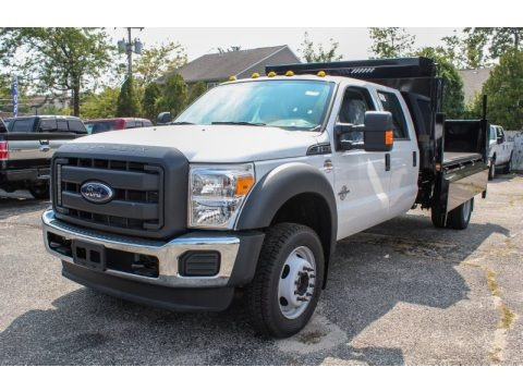 Oxford White 2013 Ford F550 Super Duty XL Crew Cab 4x4 Chassis