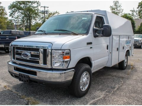Oxford White 2013 Ford E Series Cutaway E350 Commercial Utility Truck