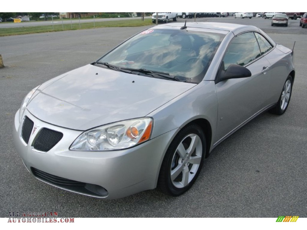 2008 Pontiac G6 Gt Convertible In Liquid Silver Metallic