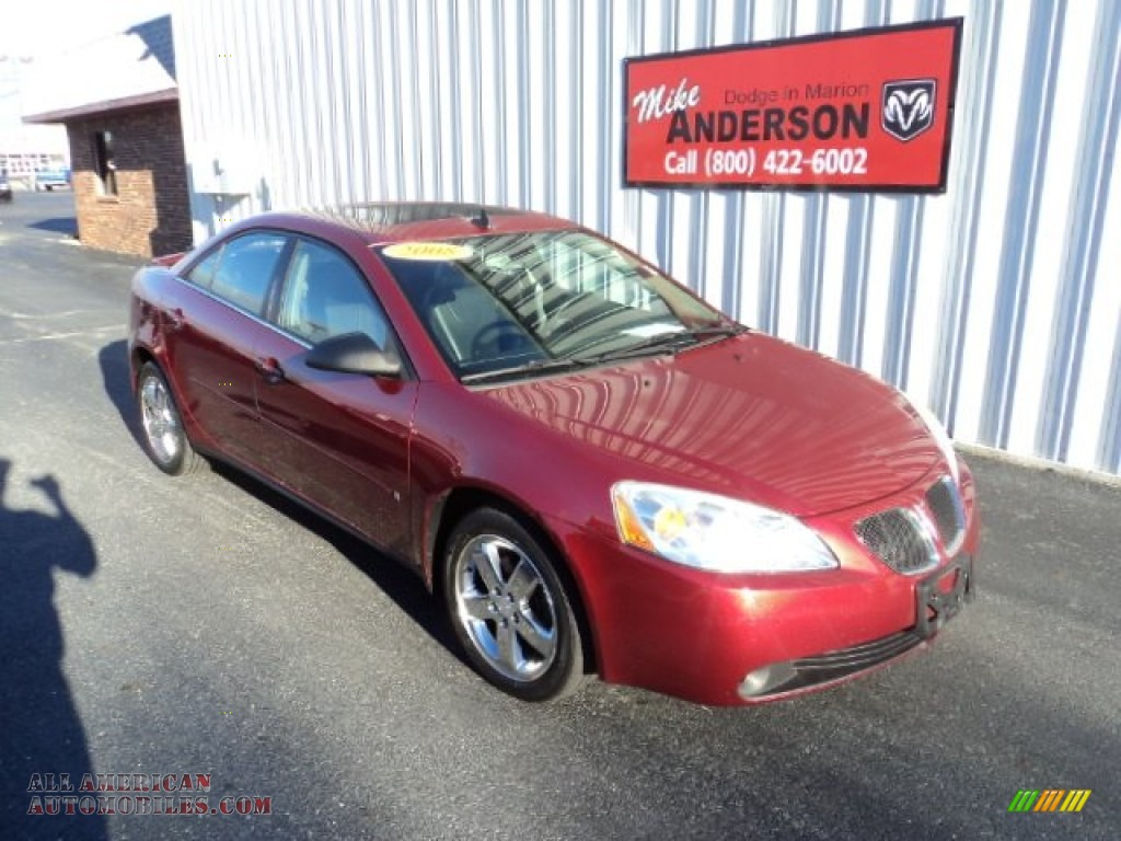 2008 Pontiac G6 Gt Sedan In Performance Red Metallic