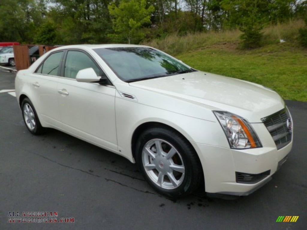 2008 cadillac cts sedan in white diamond tri coat 171581 all american automobiles buy. Black Bedroom Furniture Sets. Home Design Ideas