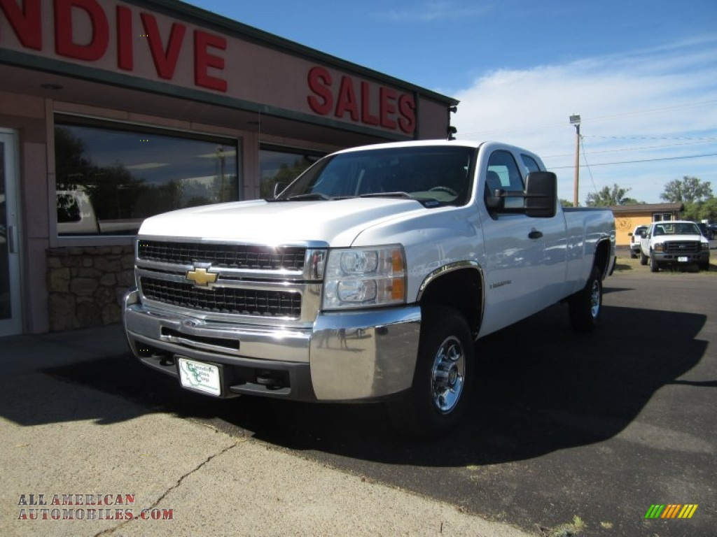 2008 chevrolet silverado 2500hd work truck extended cab 4x4 in summit white 139480 all. Black Bedroom Furniture Sets. Home Design Ideas