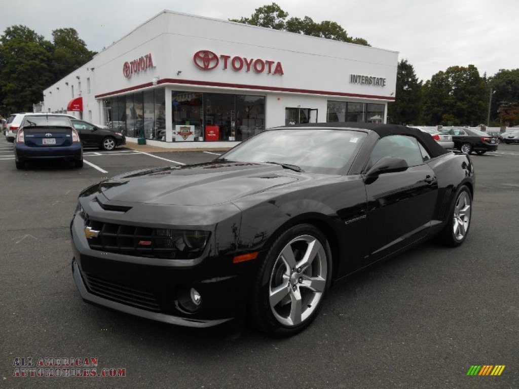 2011 chevrolet camaro ss rs convertible in black 165635 all american automobiles buy. Black Bedroom Furniture Sets. Home Design Ideas