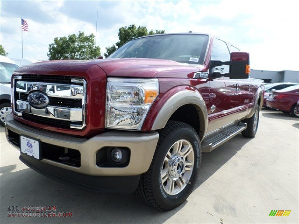 2014 Ford F250 Super Duty King Ranch Crew Cab 4x4 In Ruby Red Metallic A31644 All American