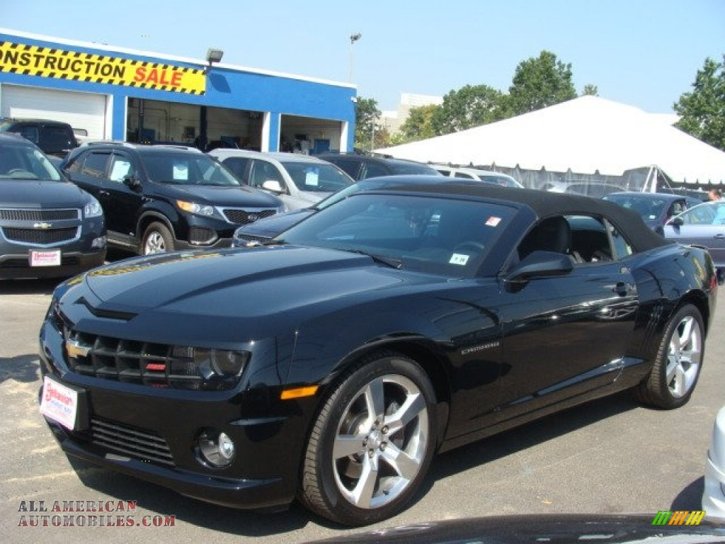 2012 chevrolet camaro ss rs convertible in black 111215 all american automobiles buy. Black Bedroom Furniture Sets. Home Design Ideas