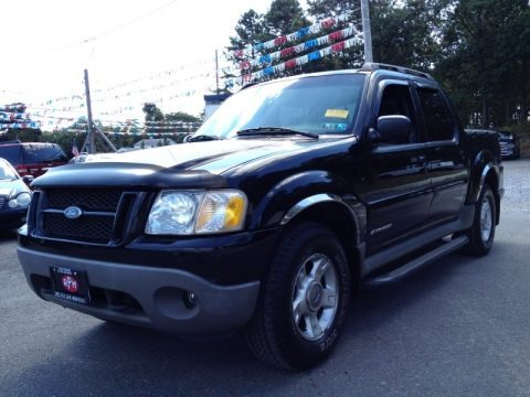 Black 2001 Ford Explorer Sport Trac 4x4