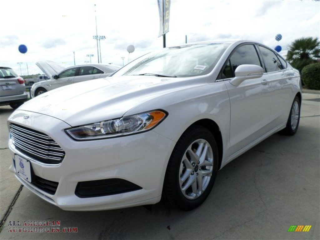 2014 ford fusion se ecoboost in white platinum 141717 all american automobiles buy. Black Bedroom Furniture Sets. Home Design Ideas