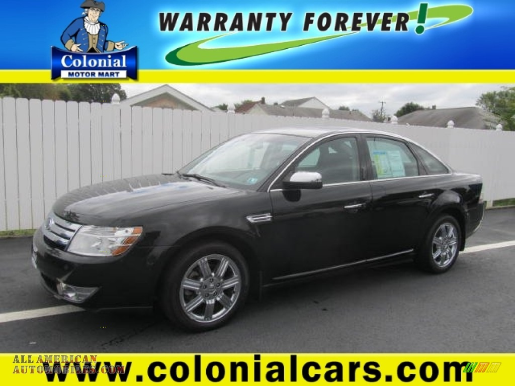 2008 Ford Taurus Limited Awd In Black Clearcoat 129831