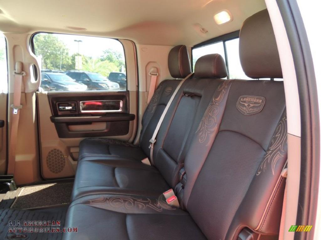 ram cab 3500 dodge mega longhorn laramie dually silver 4x4 brown metallic bright interior hd pebble bark beige light american