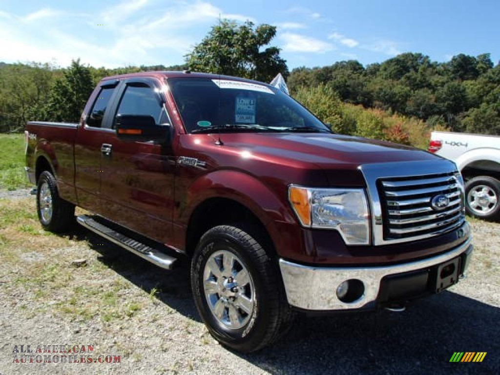 2010 ford f150 xlt supercab 4x4 in royal red metallic b37906 all american automobiles buy. Black Bedroom Furniture Sets. Home Design Ideas