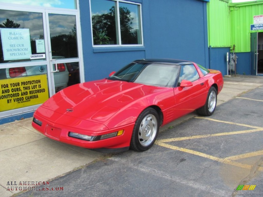 1991 Chevrolet Corvette Coupe In Bright Red 115198 All