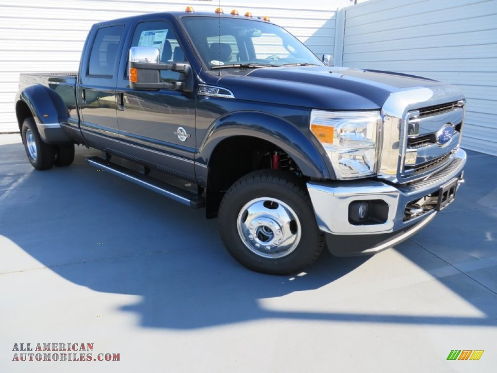 2014 ford f350 super duty lariat crew cab 4x4 dually in blue jeans metallic photo 2 a37932. Black Bedroom Furniture Sets. Home Design Ideas