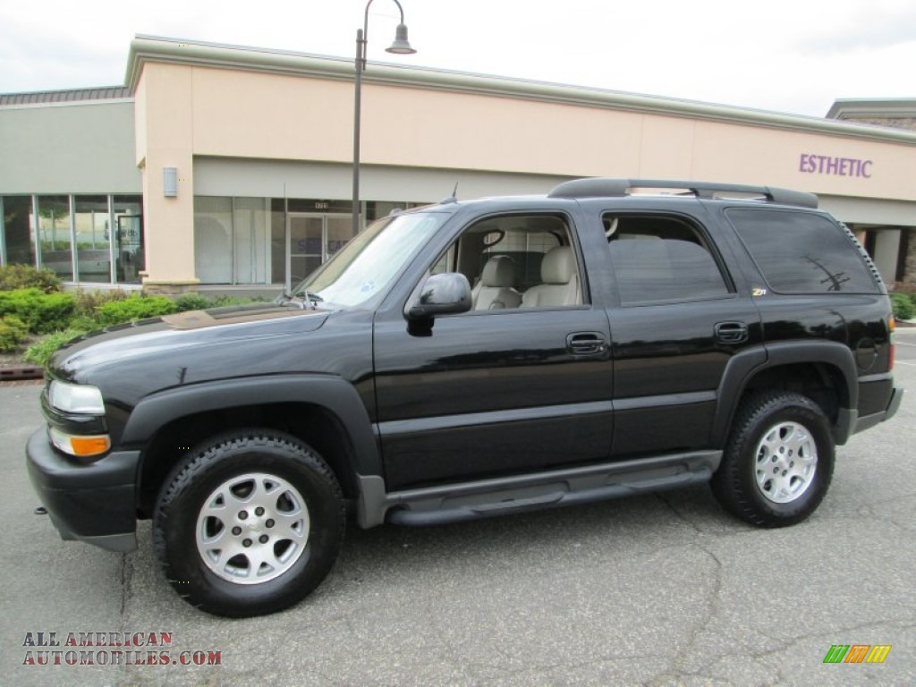 2004 chevrolet tahoe z71 4x4 in black 311986 all american automobiles buy american cars. Black Bedroom Furniture Sets. Home Design Ideas