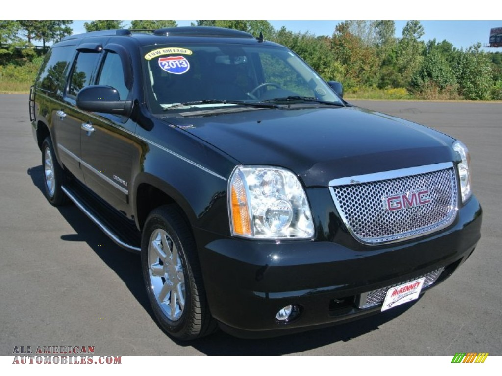 2013 gmc yukon xl denali awd in onyx black 321623 all american automobiles buy american. Black Bedroom Furniture Sets. Home Design Ideas