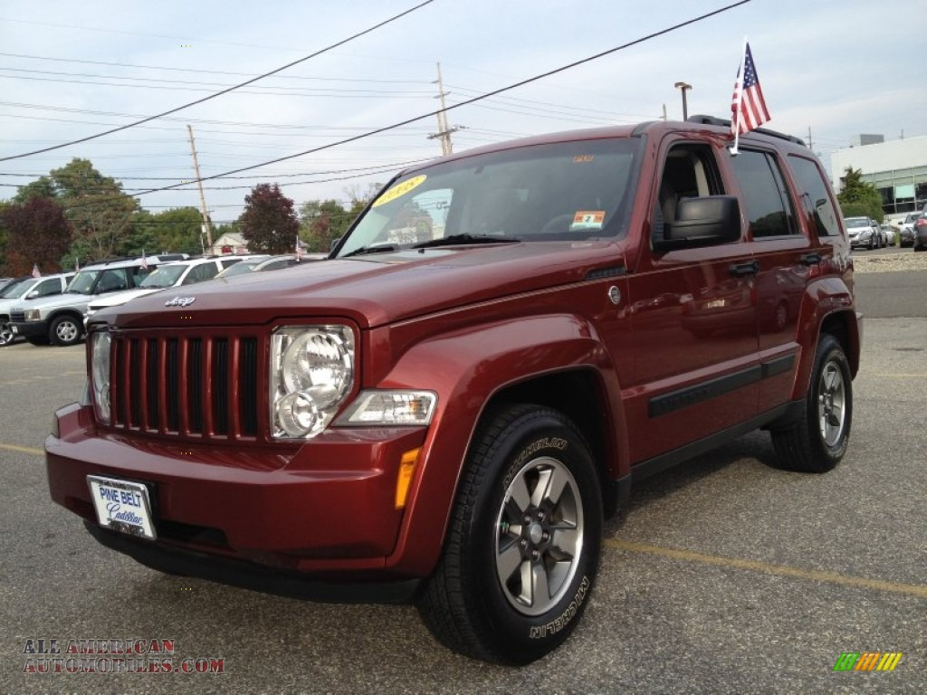 2008 jeep liberty sport 4x4 in red rock crystal pearl 279101 all american automobiles buy. Black Bedroom Furniture Sets. Home Design Ideas