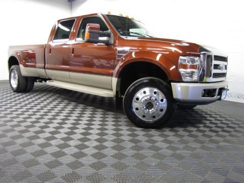 Dark Copper Metallic 2008 Ford F450 Super Duty King Ranch Crew Cab 4x4 Dually