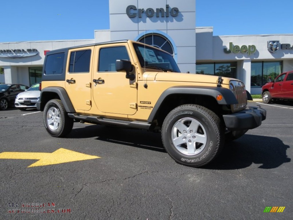 2014 Jeep Wrangler Unlimited Sport 4x4 in Dune photo #4 ...