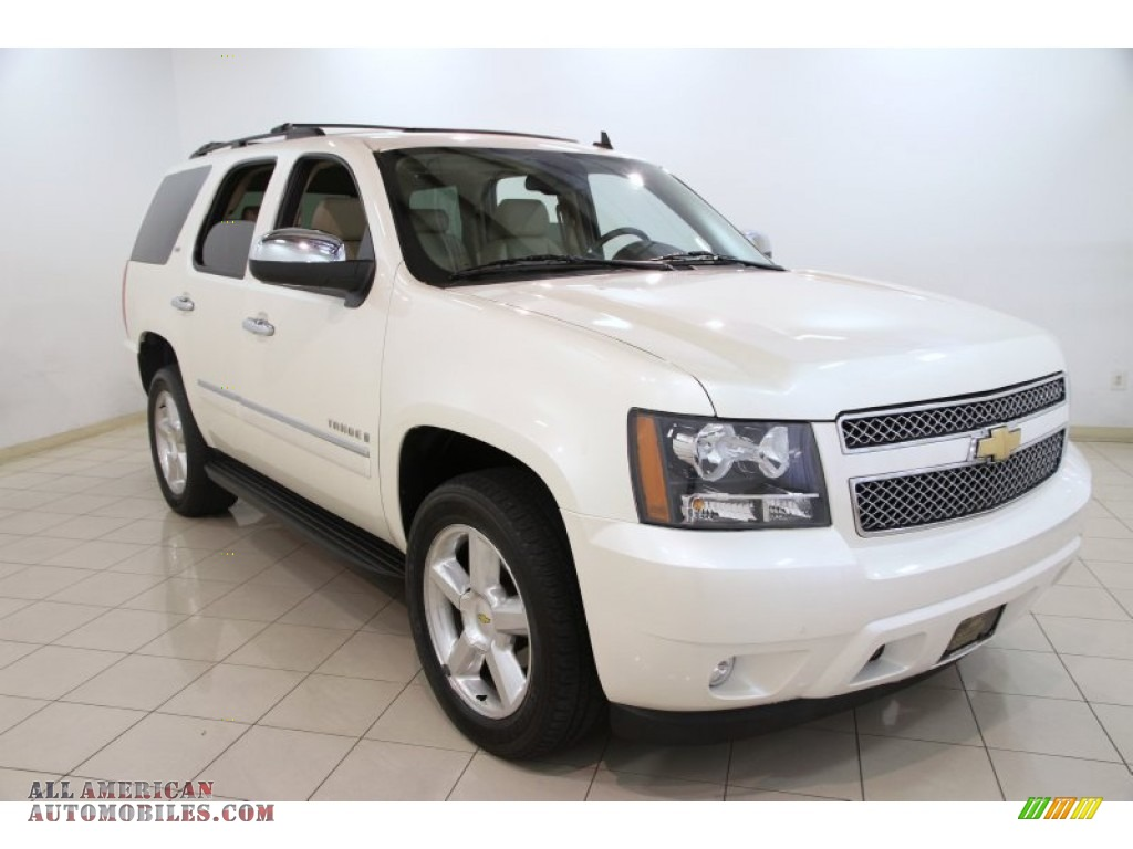 2009 chevrolet tahoe ltz 4x4 in white diamond tricoat 213972 all american automobiles buy. Black Bedroom Furniture Sets. Home Design Ideas