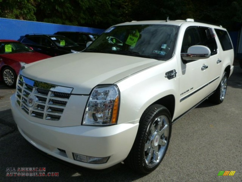 2011 cadillac escalade esv premium awd in white diamond. Black Bedroom Furniture Sets. Home Design Ideas
