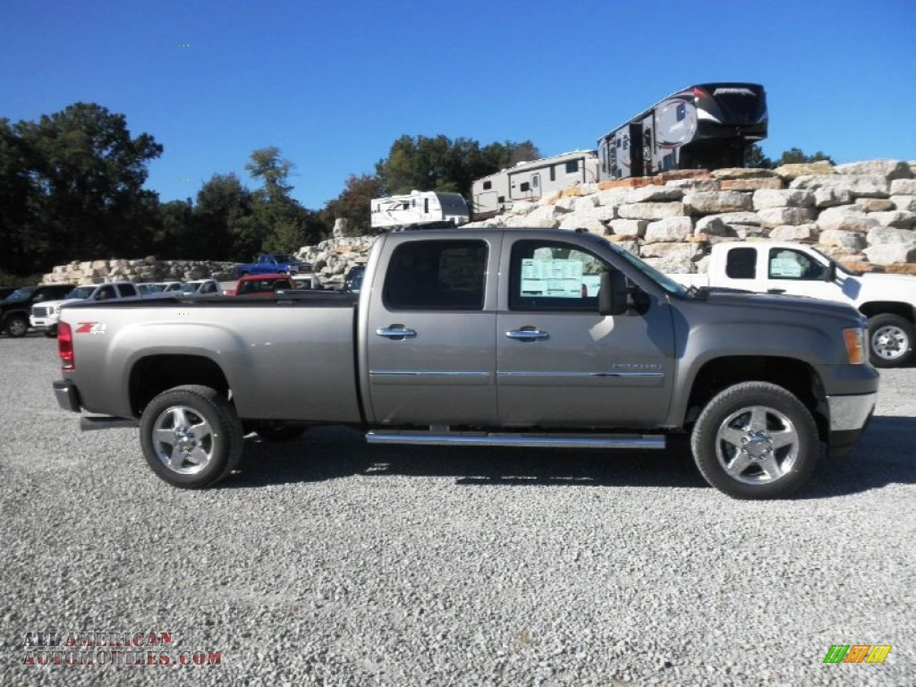2014 gmc sierra 2500hd sle crew cab 4x4 in steel gray metallic 153022 all american. Black Bedroom Furniture Sets. Home Design Ideas