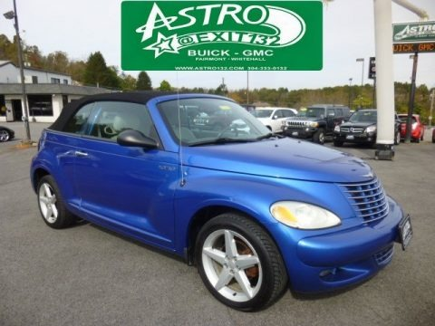 Electric Blue Pearl 2005 Chrysler PT Cruiser GT Convertible
