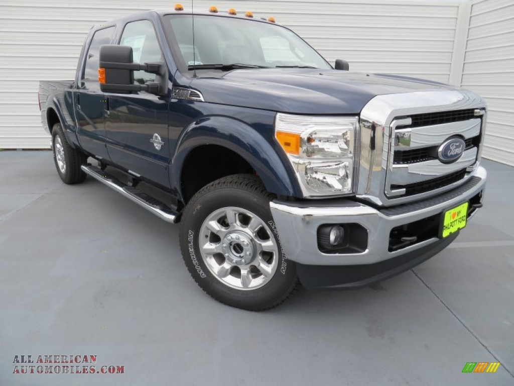 2014 F250 Super Duty Lariat Crew Cab 4x4 - Blue Jeans Metallic / Black