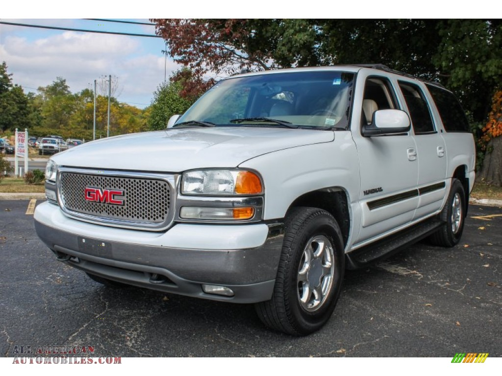 2004 gmc yukon xl 1500 slt 4x4 in summit white 109845 all american automobiles buy. Black Bedroom Furniture Sets. Home Design Ideas
