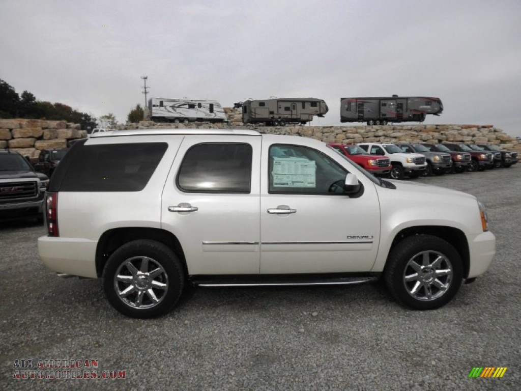 2014 gmc yukon denali awd in white diamond tricoat 180075 all american automobiles buy. Black Bedroom Furniture Sets. Home Design Ideas